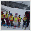 At the start of the young skiers