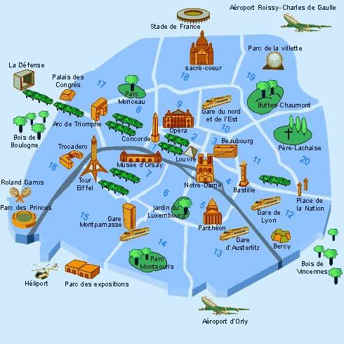 Karte Paris Stadtplan.Paris Sehenswürdigkeiten Karte Onlinebieb