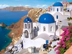 Santorini is an island-card