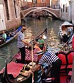 On the canals on a gondola